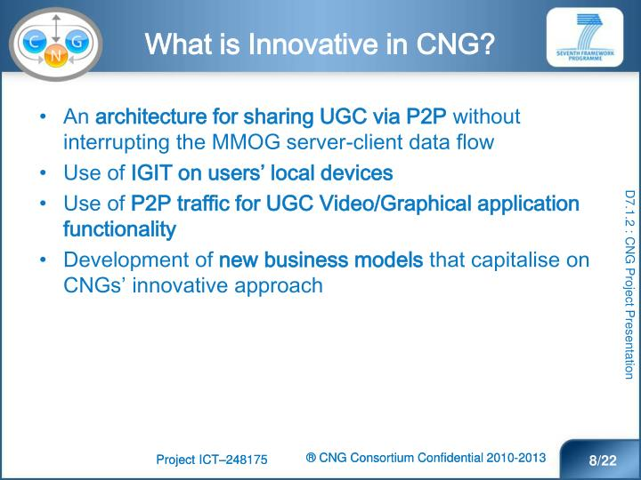 What is Innovative in CNG?