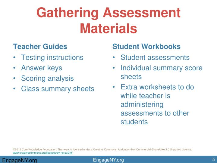 Gathering Assessment Materials