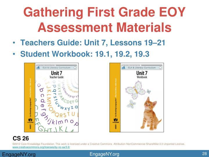 Gathering First Grade EOY Assessment Materials