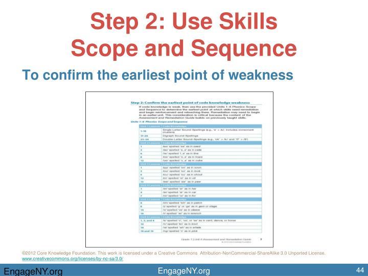 Step 2: Use Skills