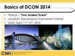 basics of dcon 2014