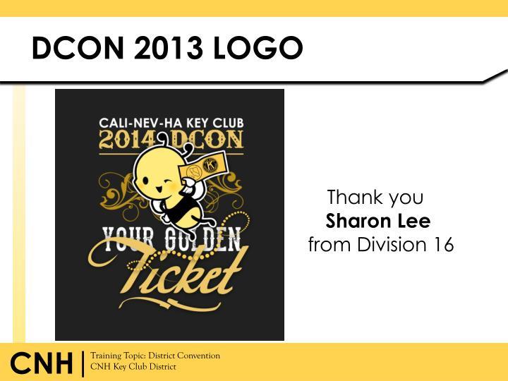 DCON 2013 LOGO