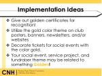implementation ideas
