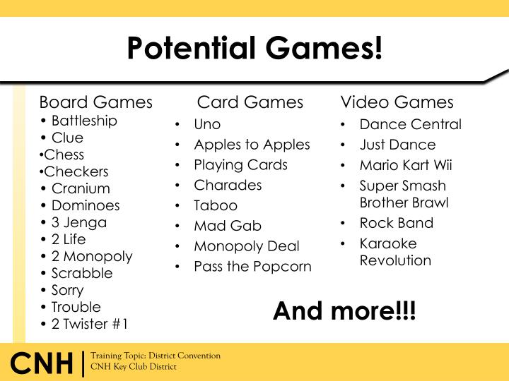Potential Games!