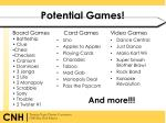 potential games