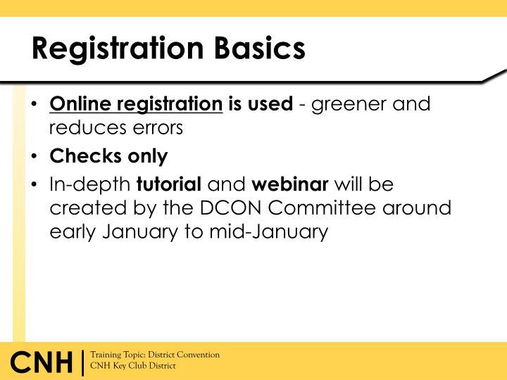 Registration Basics