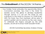 the embodiment of the dcon 14 theme