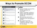 ways to promote dcon2