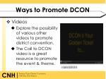 ways to promote dcon3