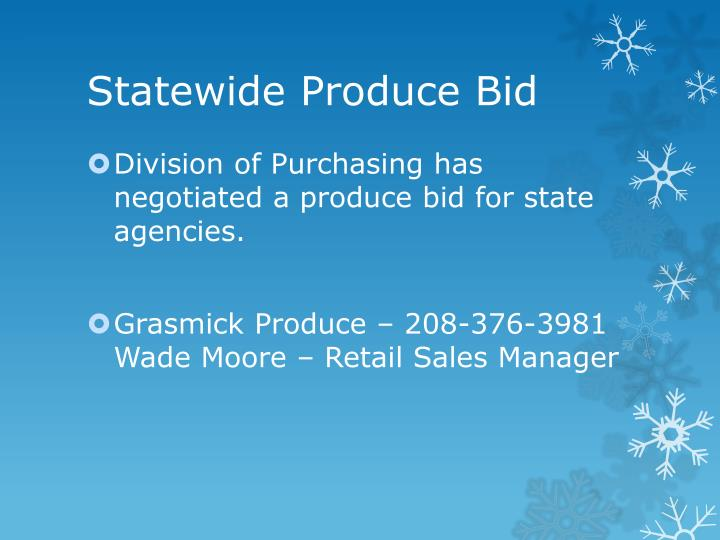 Statewide Produce Bid