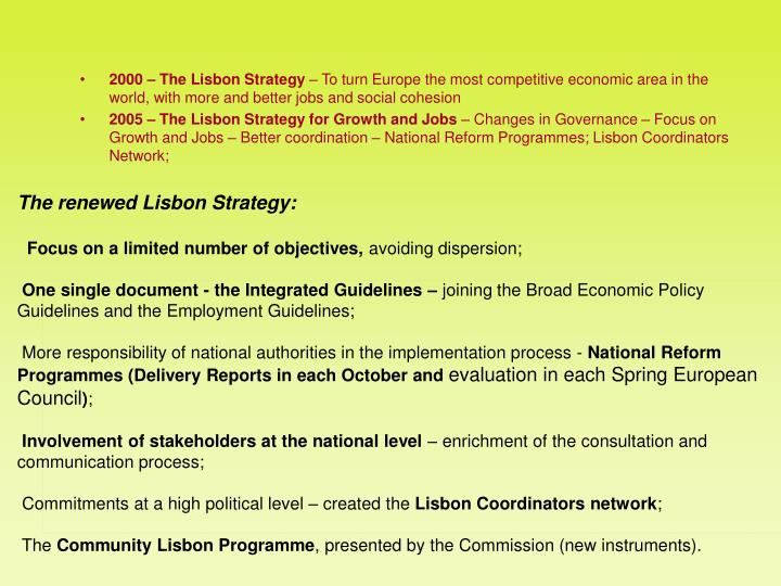 2000 – The Lisbon Strategy