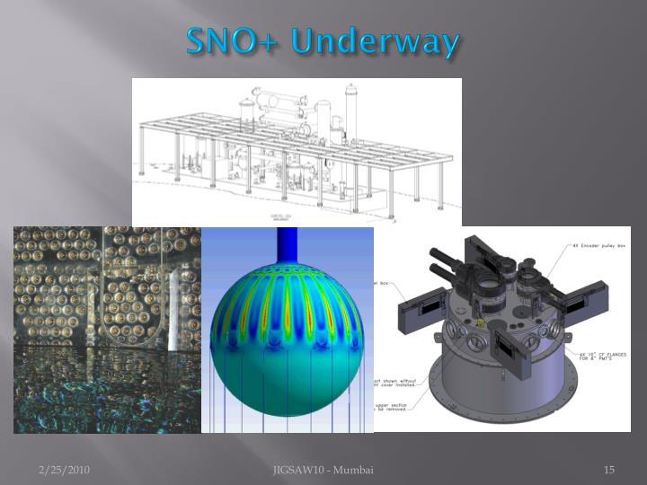 SNO+ Underway