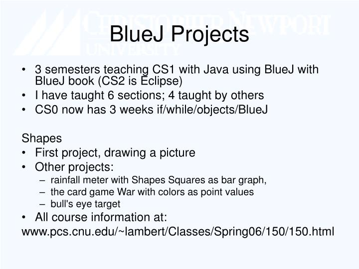 BlueJ Projects