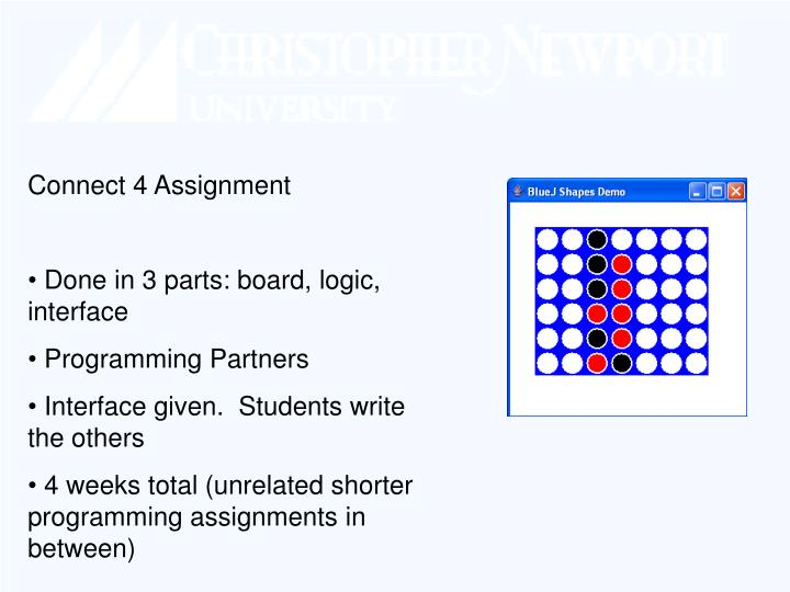 Connect 4 Assignment