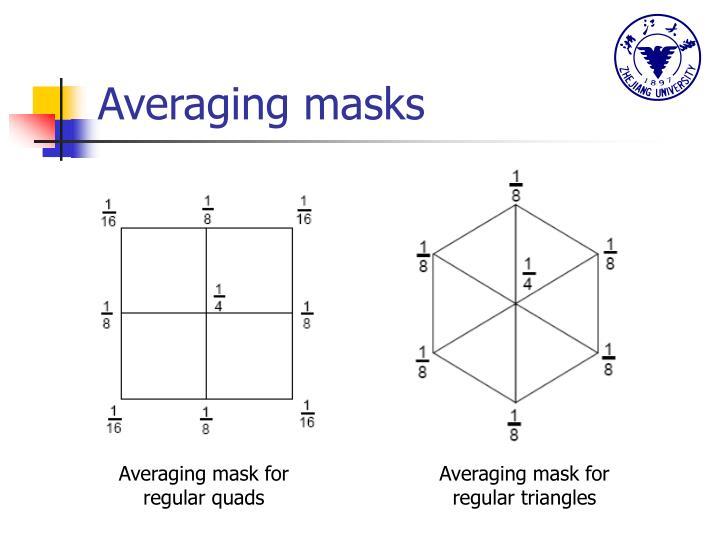 Averaging masks
