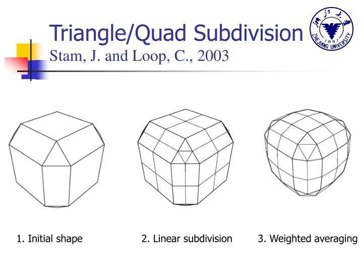 Triangle/Quad Subdivision