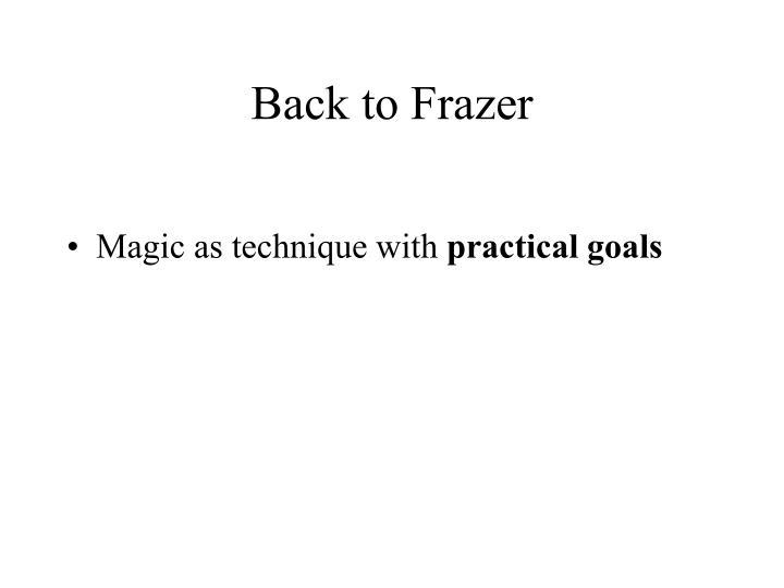 Back to Frazer