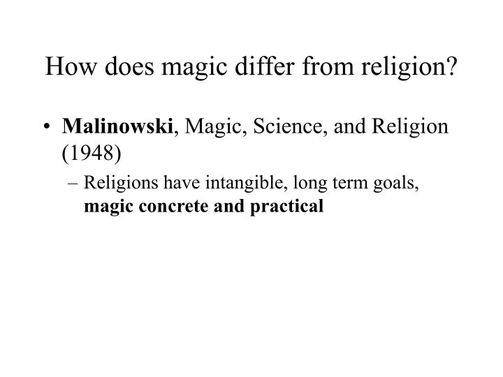 How does magic differ from religion?