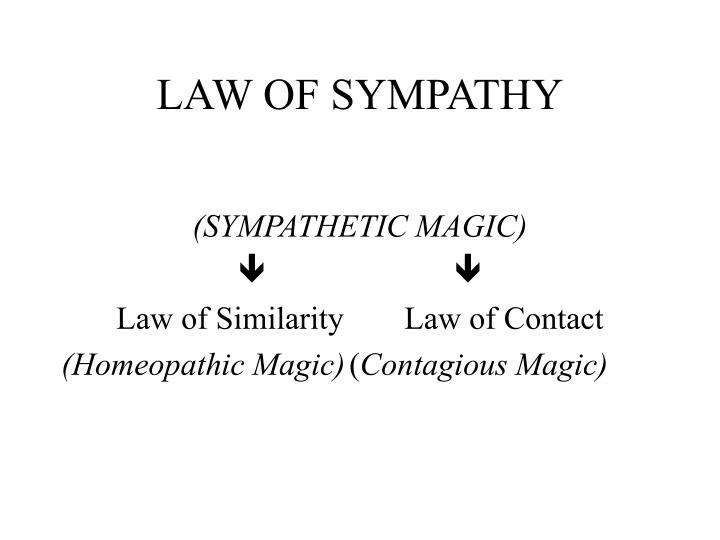 LAW OF SYMPATHY
