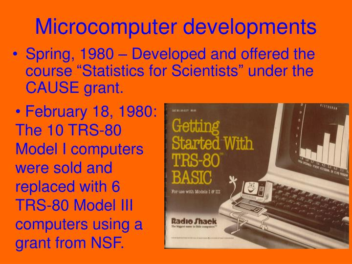 Microcomputer developments