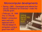 microcomputer developments
