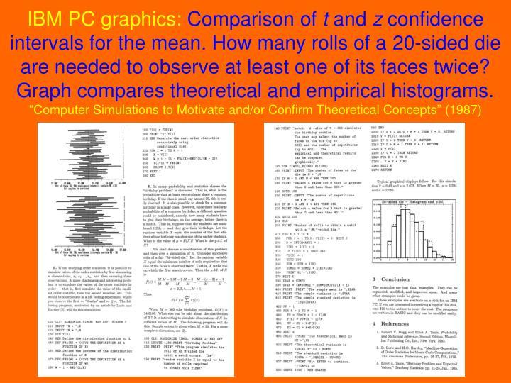 IBM PC graphics: