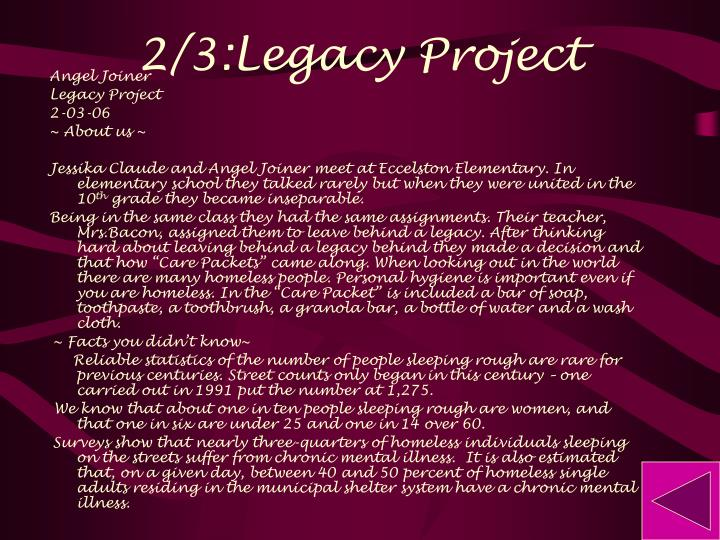 2/3:Legacy Project
