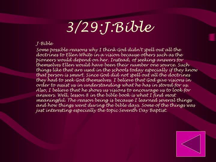 3/29:J:Bible