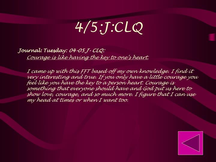 4/5:J:CLQ