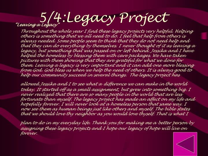 5/4:Legacy Project