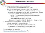 inpatient rate calculation