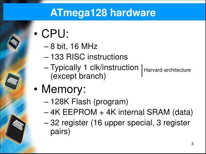 ATmega128 hardware