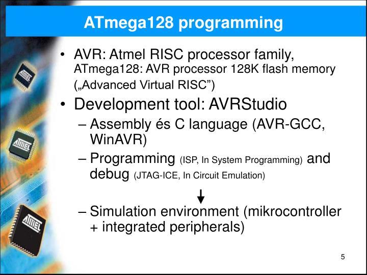 ATmega128 programming