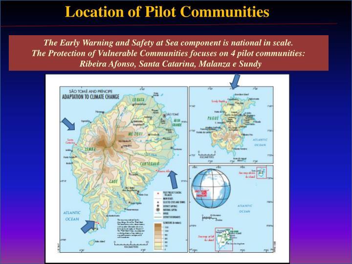 Location of Pilot Communities