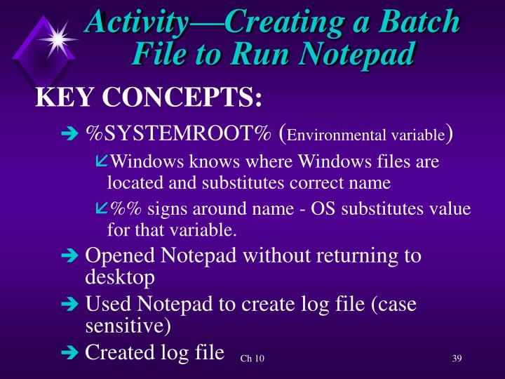 Activity—Creating a Batch