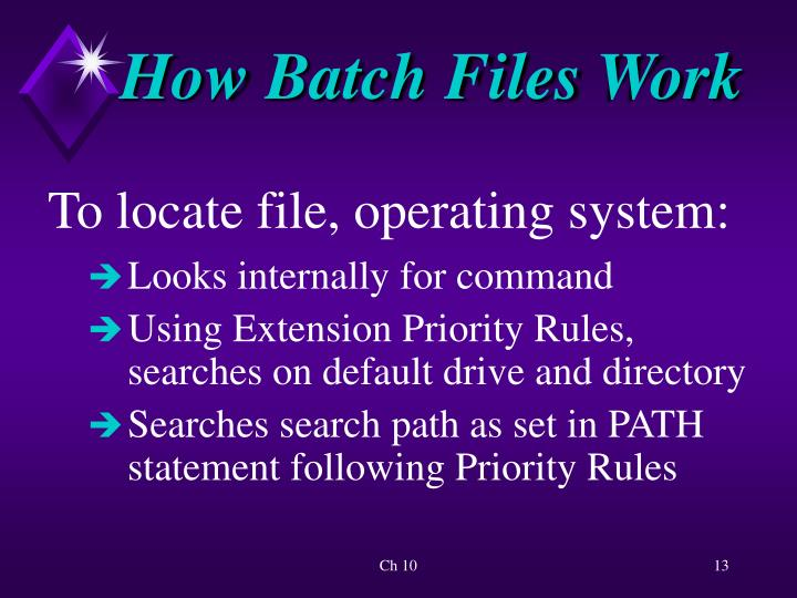 How Batch Files Work