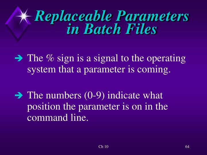 Replaceable Parameters