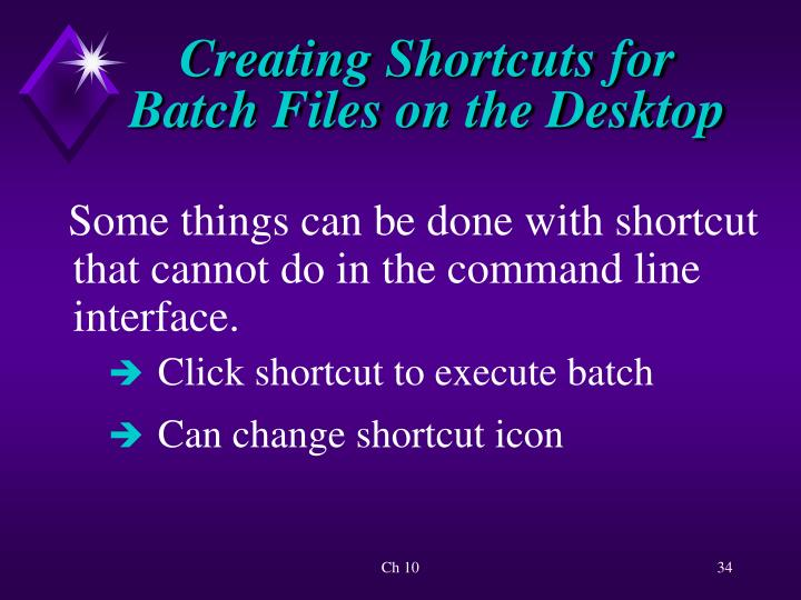 Creating Shortcuts for