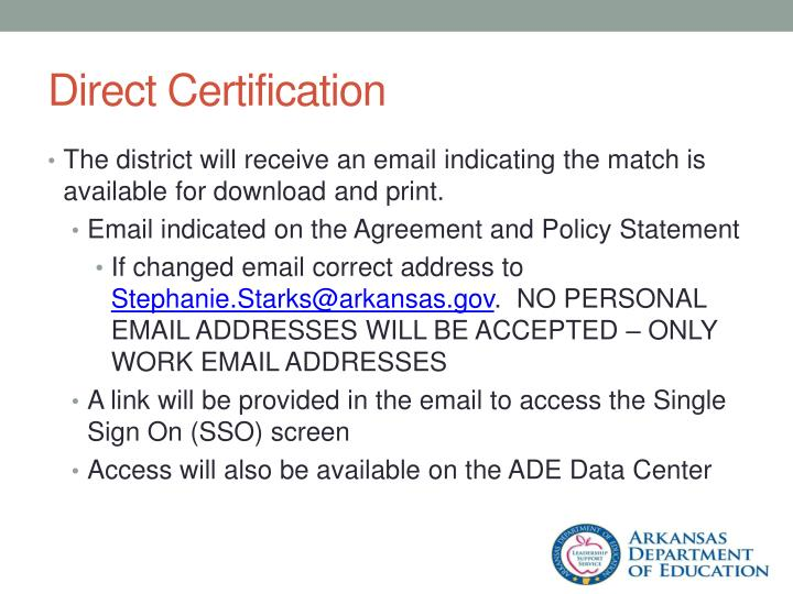 Direct Certification