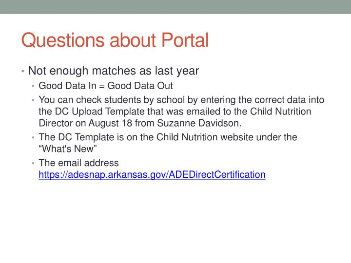 Questions about Portal