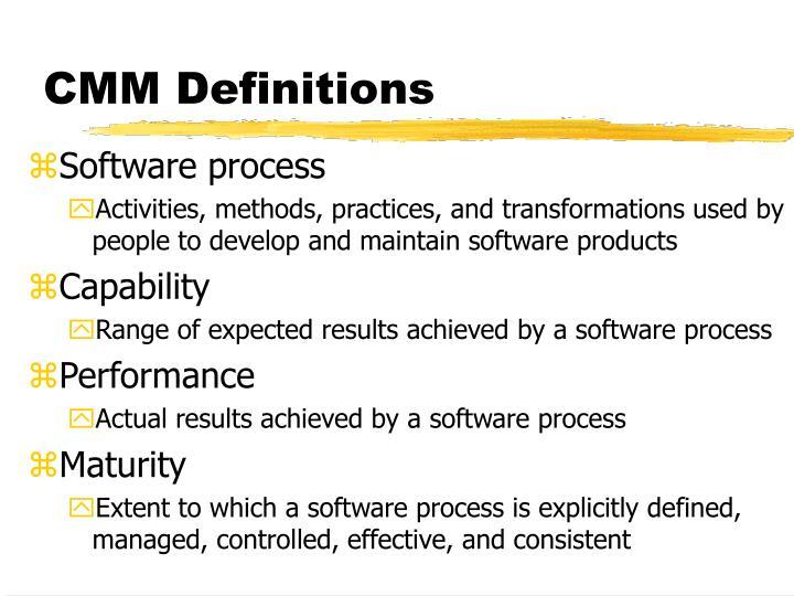 CMM Definitions