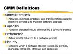 cmm definitions