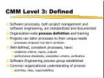 cmm level 3 defined