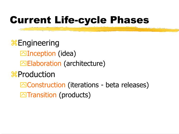 Current Life-cycle Phases