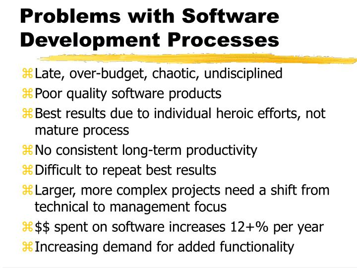 Problems with Software Development Processes