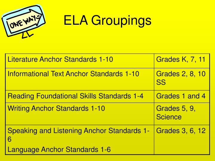 ELA Groupings