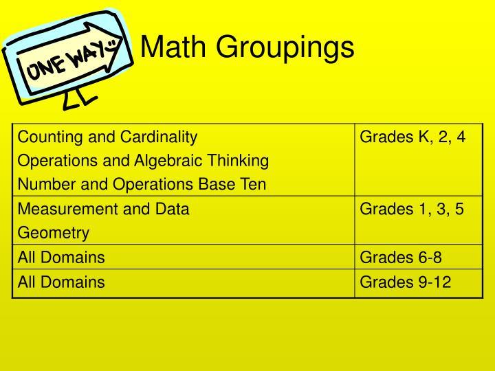 Math Groupings