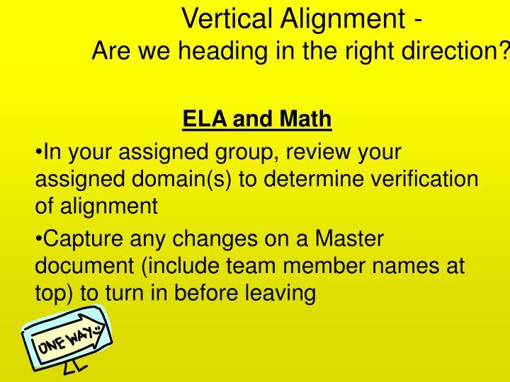 Vertical Alignment -