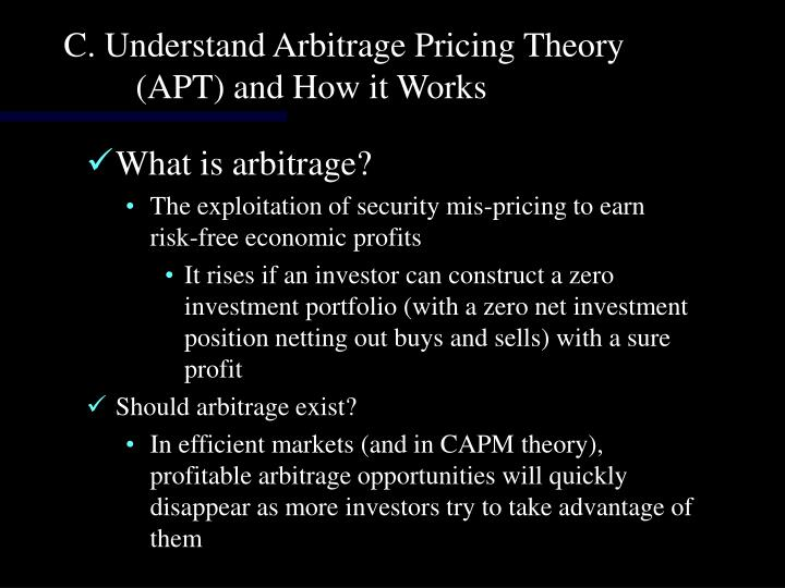C. Understand Arbitrage Pricing Theory (APT) and How it Works