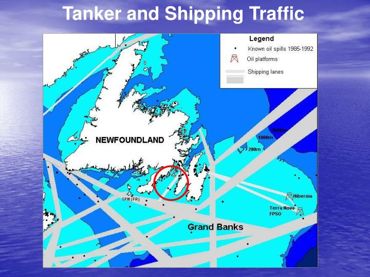 Tanker and Shipping Traffic
